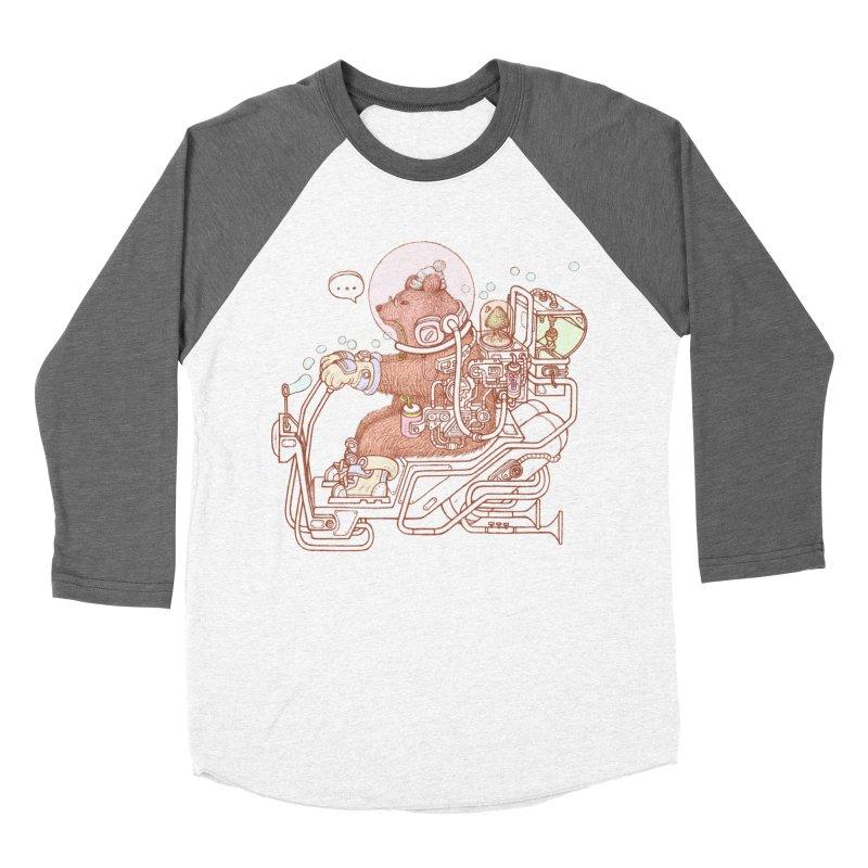 bear space suit Men's Baseball Triblend Longsleeve T-Shirt by makapa's Artist Shop