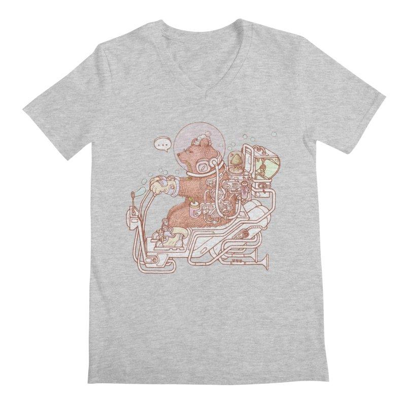 bear space suit Men's Regular V-Neck by makapa's Artist Shop