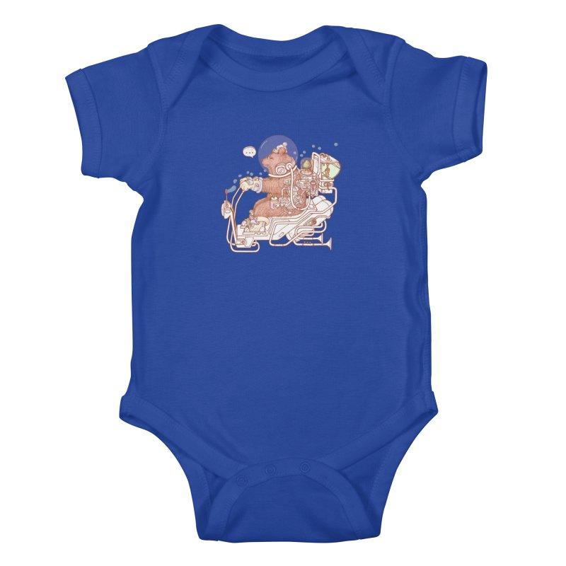 bear space suit Kids Baby Bodysuit by makapa's Artist Shop