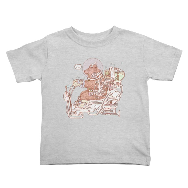 bear space suit Kids Toddler T-Shirt by makapa's Artist Shop