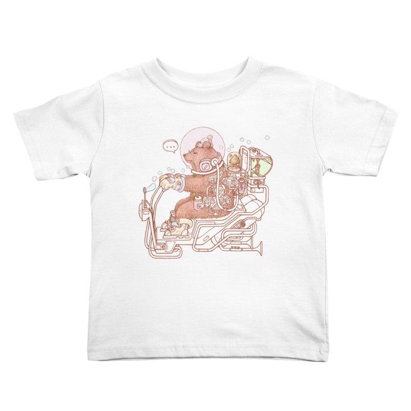 bear space suit Kids Toddler T-Shirt by makapa's Artist Shop