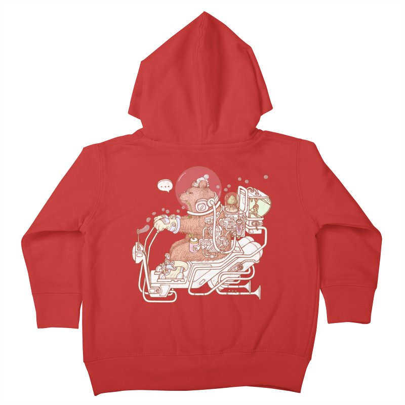 bear space suit Kids Toddler Zip-Up Hoody by makapa's Artist Shop