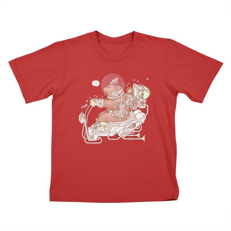 bear space suit Kids T-Shirt by makapa's Artist Shop