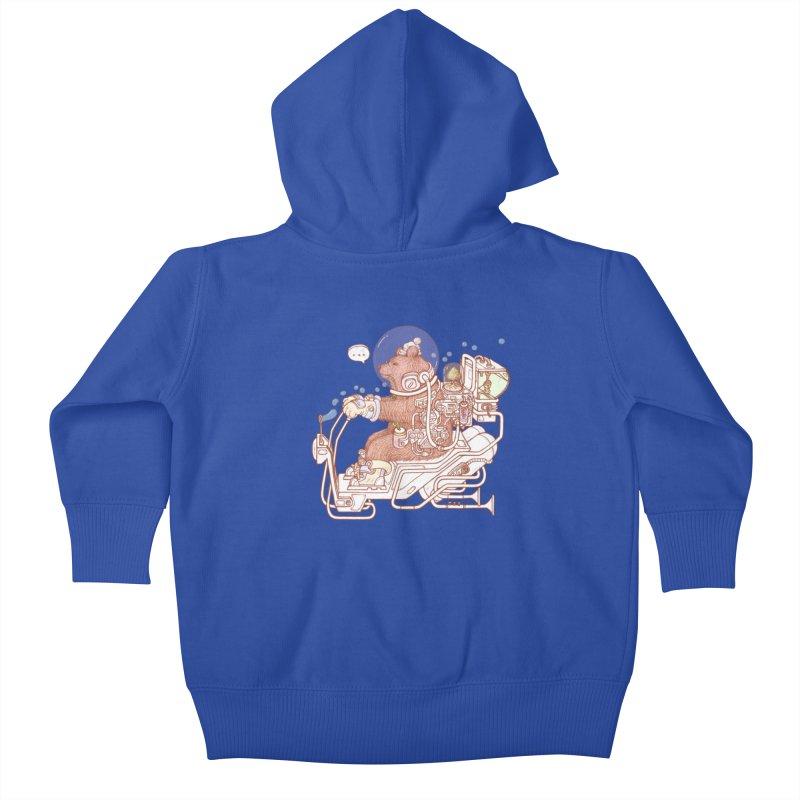 bear space suit Kids Baby Zip-Up Hoody by makapa's Artist Shop
