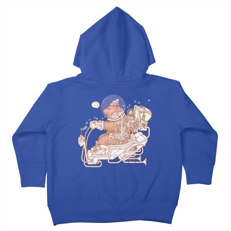 bear space suit Kids Toddler Zip-Up Hoody by makapa's Artist Shop
