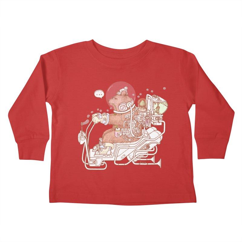 bear space suit Kids Toddler Longsleeve T-Shirt by makapa's Artist Shop