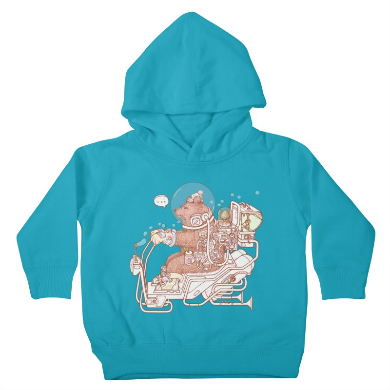 bear space suit Kids Toddler Pullover Hoody by makapa's Artist Shop