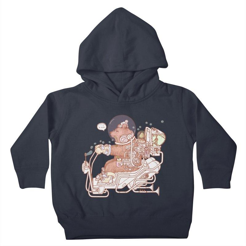 bear space suit Kids Toddler Pullover Hoody by makapa's Artist Shop