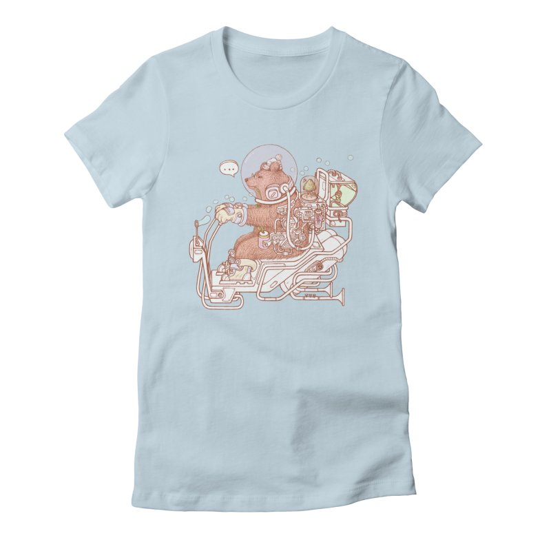 bear space suit Women's T-Shirt by makapa's Artist Shop