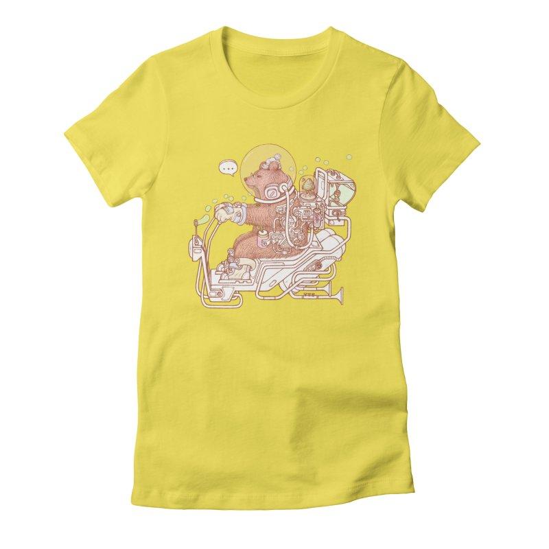 bear space suit Women's T-Shirt by makapa's Artist Shop