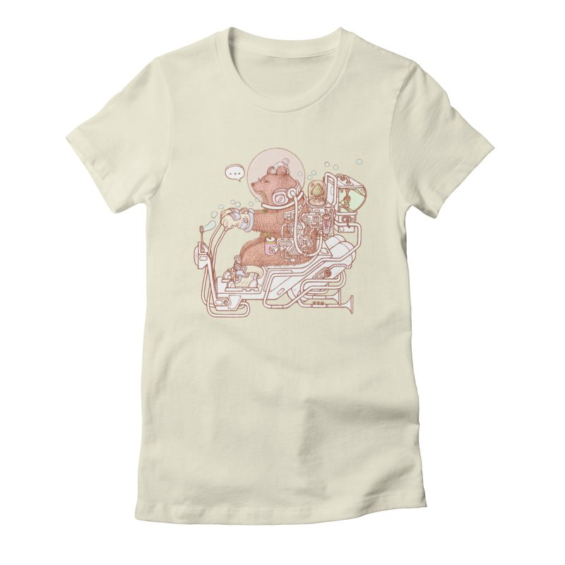 bear space suit Women's Fitted T-Shirt by makapa's Artist Shop