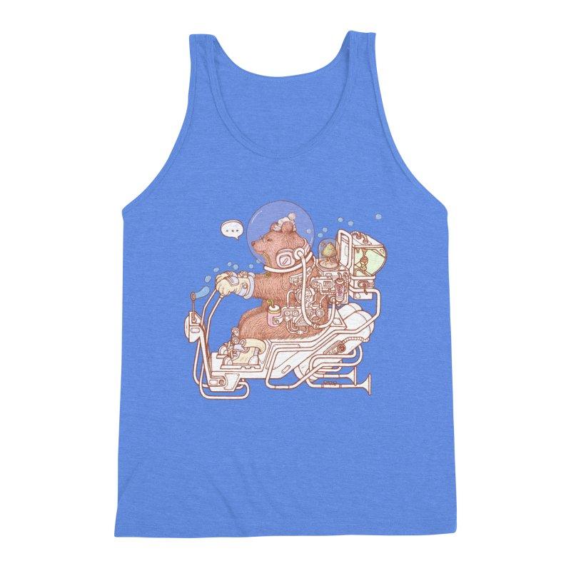 bear space suit Men's Triblend Tank by makapa's Artist Shop