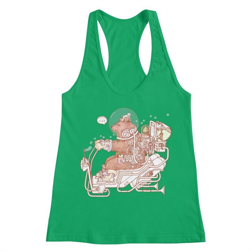 bear space suit Women's Tank by makapa's Artist Shop