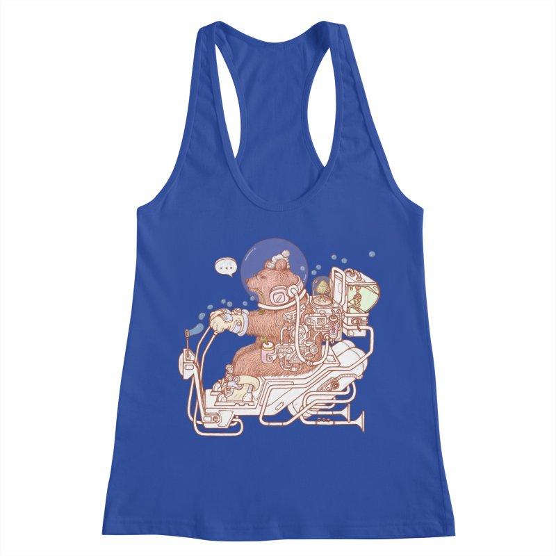 bear space suit Women's Racerback Tank by makapa's Artist Shop