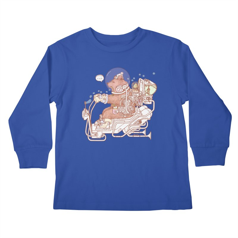 bear space suit Kids Longsleeve T-Shirt by makapa's Artist Shop