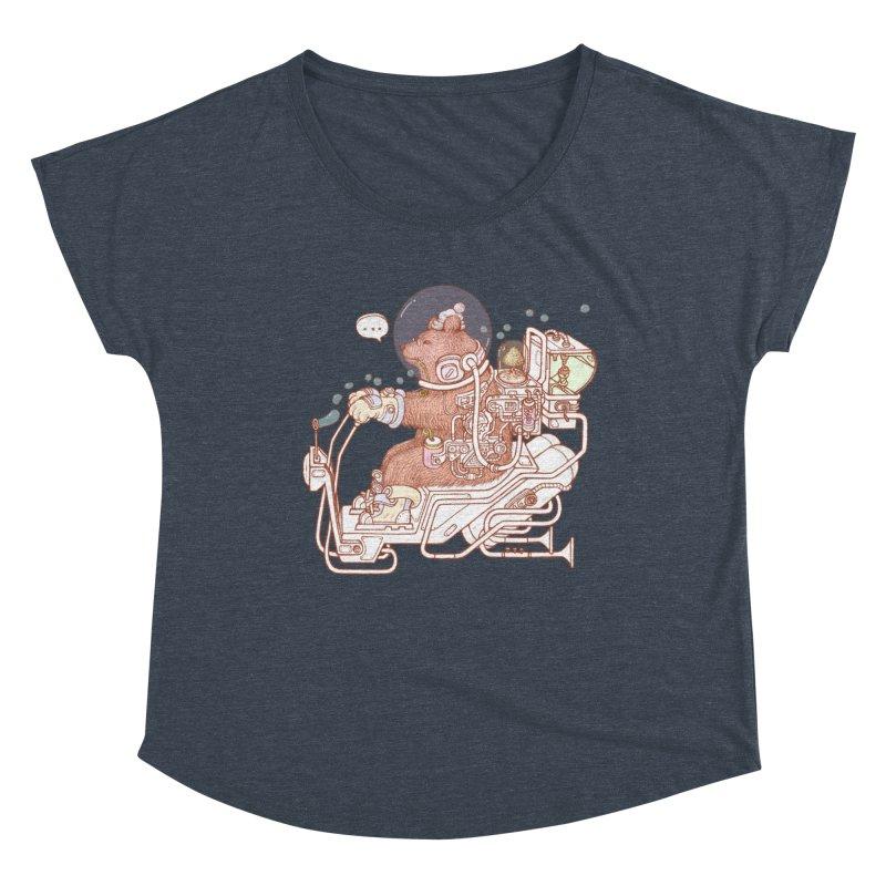 bear space suit Women's Scoop Neck by makapa's Artist Shop