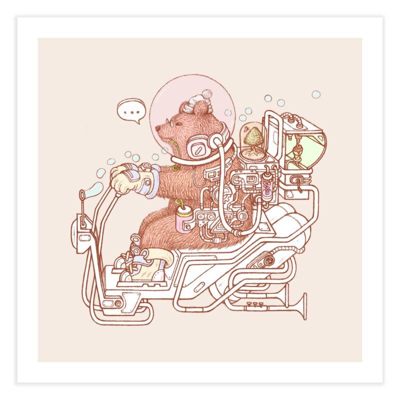 bear space suit Home Fine Art Print by makapa's Artist Shop