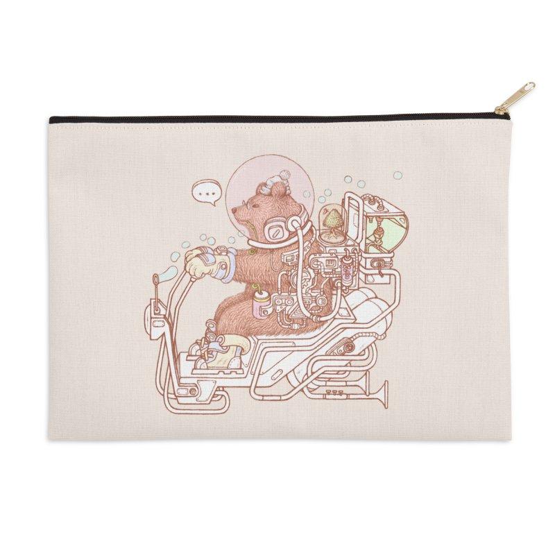 bear space suit Accessories Zip Pouch by makapa's Artist Shop