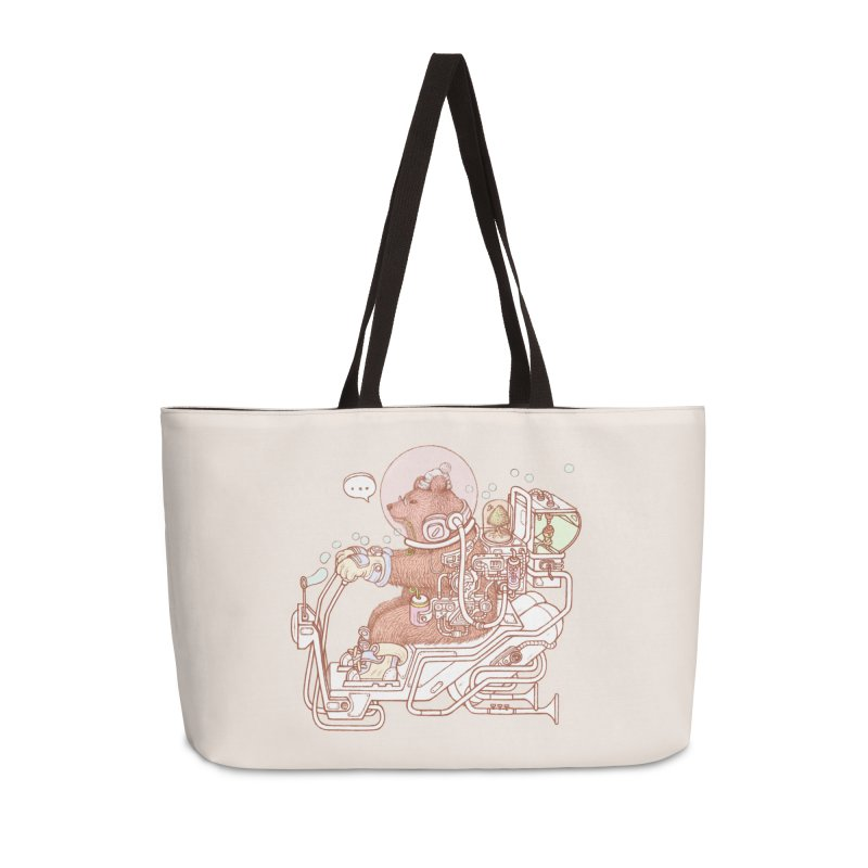 bear space suit Accessories Weekender Bag Bag by makapa's Artist Shop