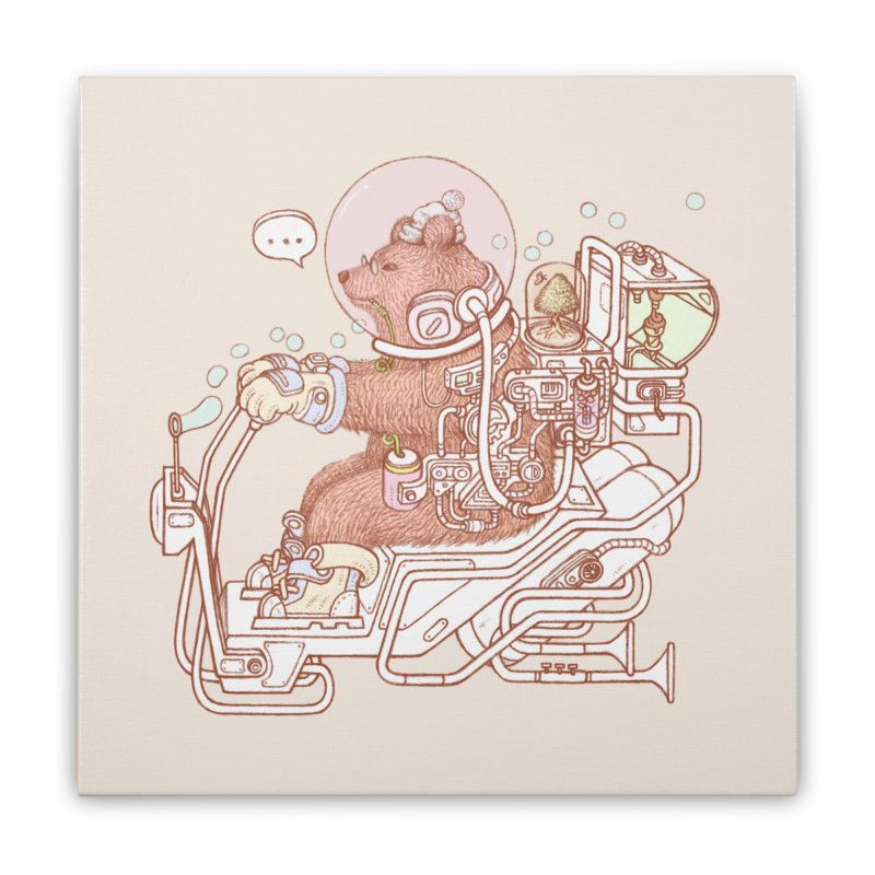 bear space suit Home Stretched Canvas by makapa's Artist Shop