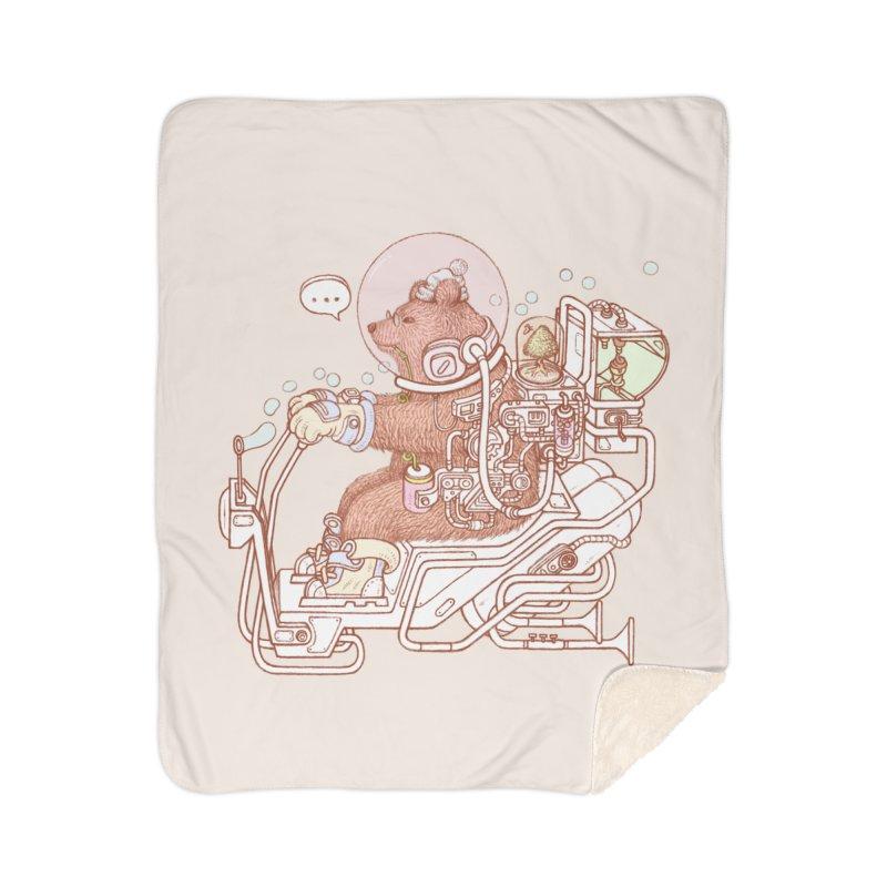 bear space suit Home Sherpa Blanket Blanket by makapa's Artist Shop