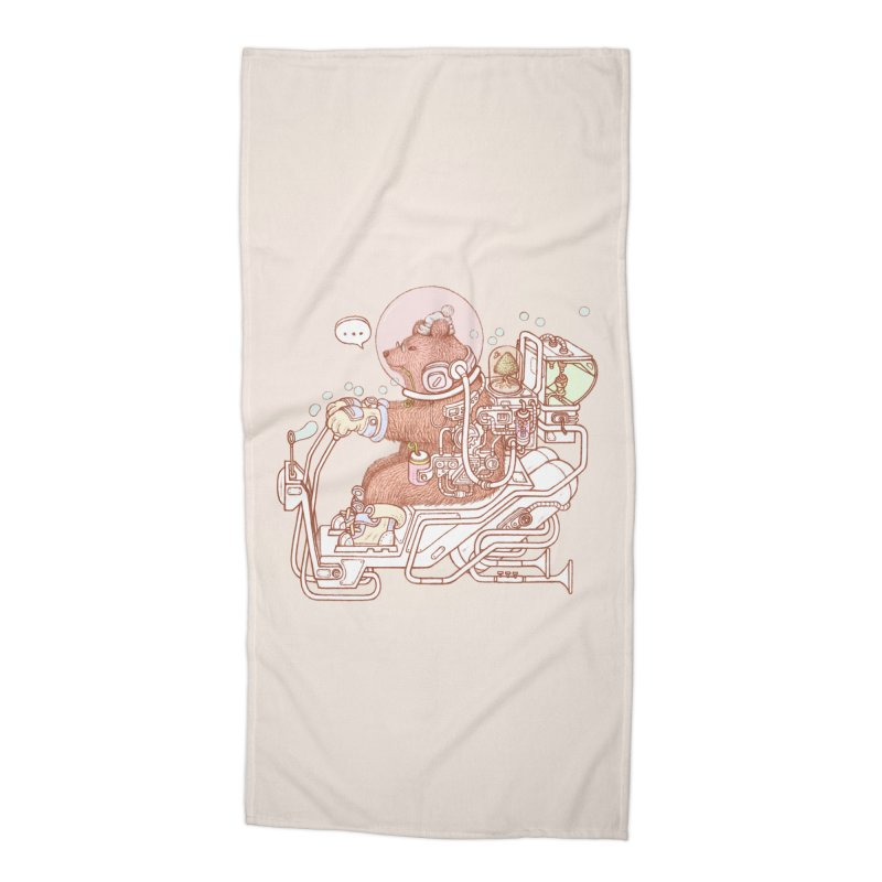 bear space suit Accessories Beach Towel by makapa's Artist Shop