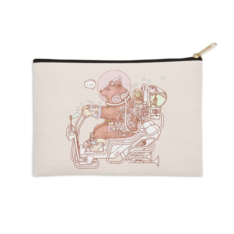 bear space suit Accessories Zip Pouch by makapa's Artist Shop