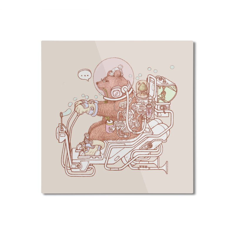 bear space suit Home Mounted Aluminum Print by makapa's Artist Shop