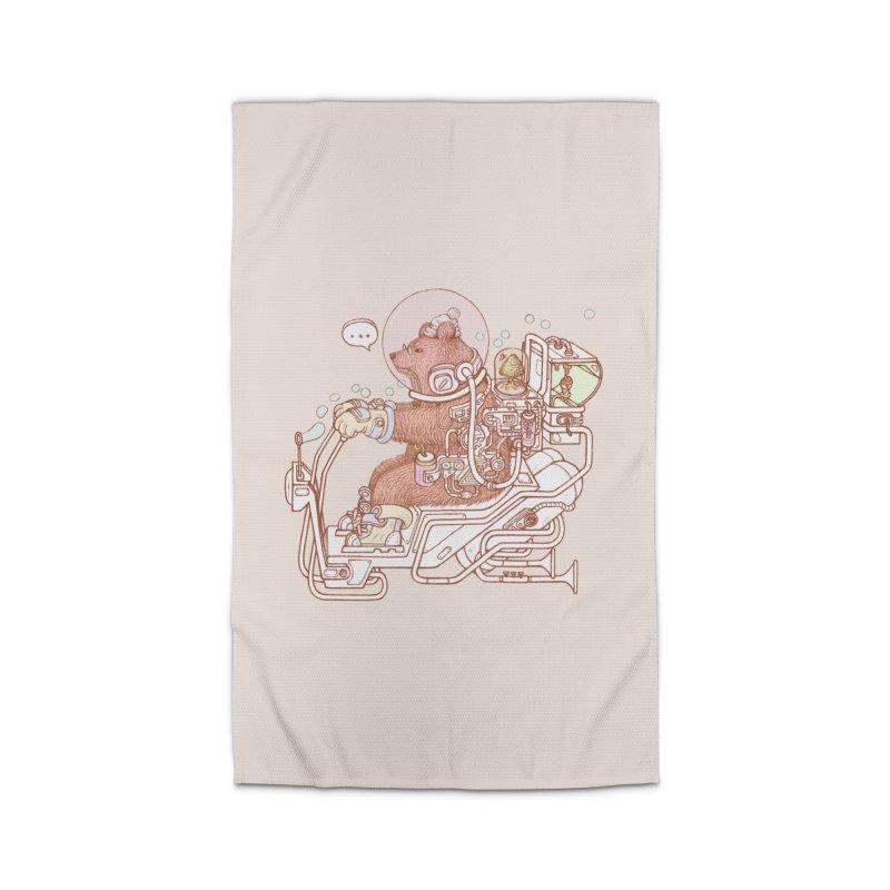 bear space suit Home Rug by makapa's Artist Shop