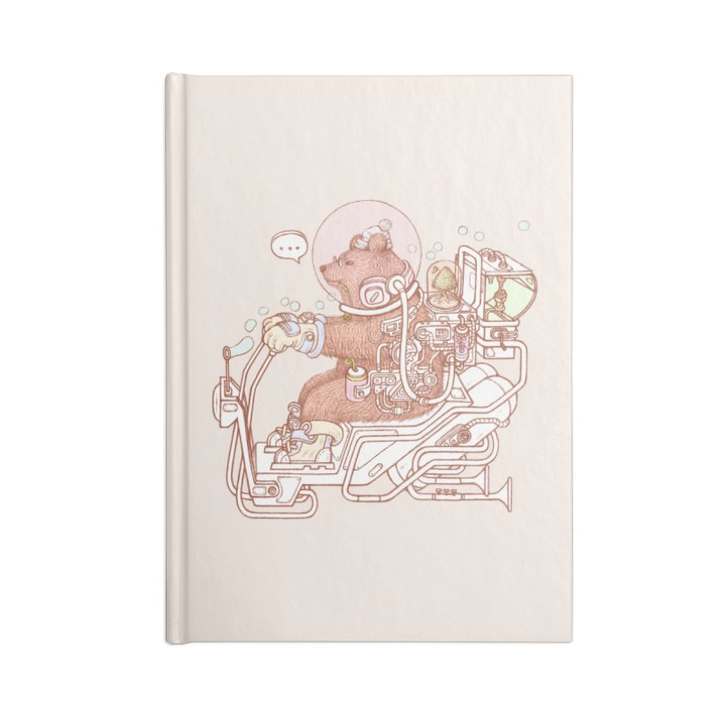 bear space suit Accessories Lined Journal Notebook by makapa's Artist Shop