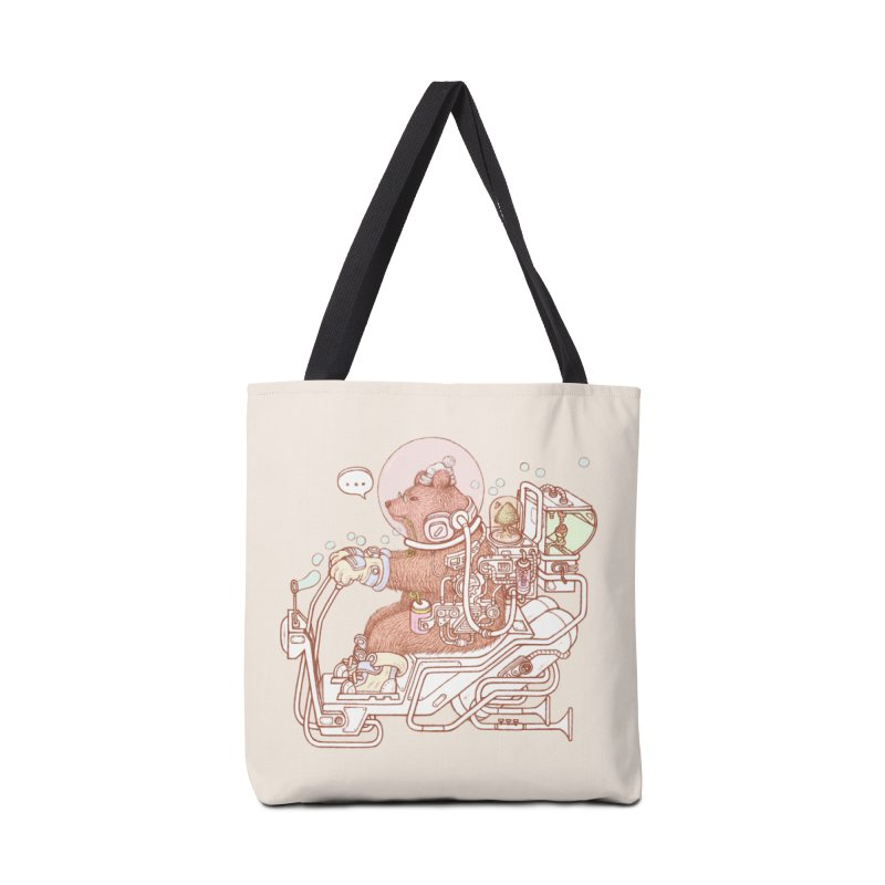 bear space suit Accessories Tote Bag Bag by makapa's Artist Shop