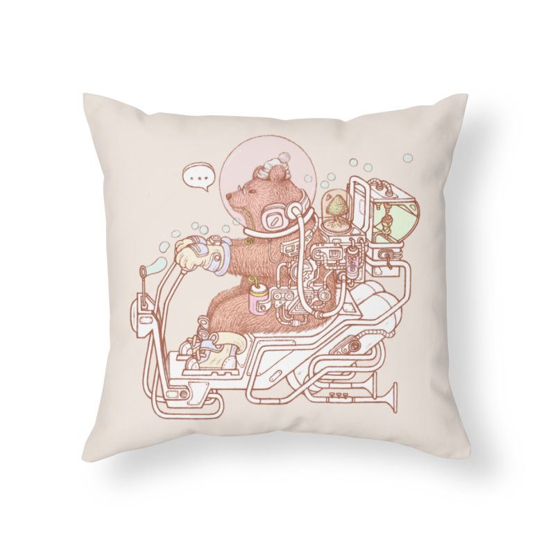 bear space suit Home Throw Pillow by makapa's Artist Shop