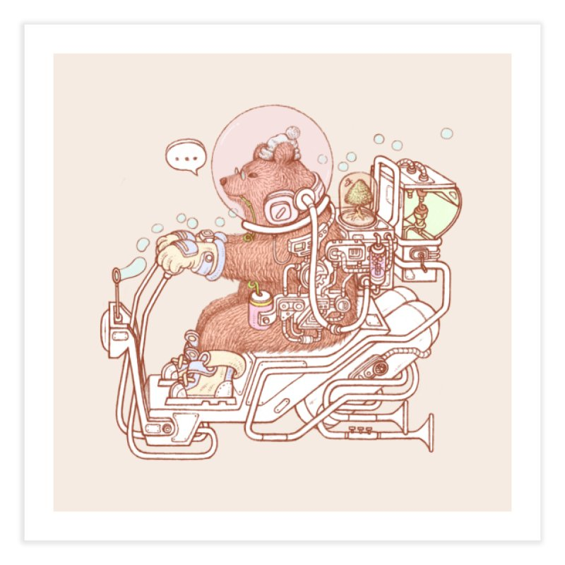 bear space suit Home Fine Art Print by makapa's Artist Shop
