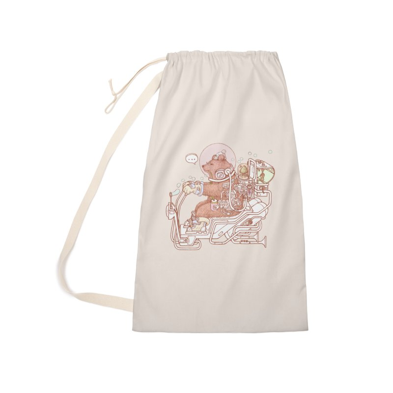 bear space suit Accessories Laundry Bag Bag by makapa's Artist Shop