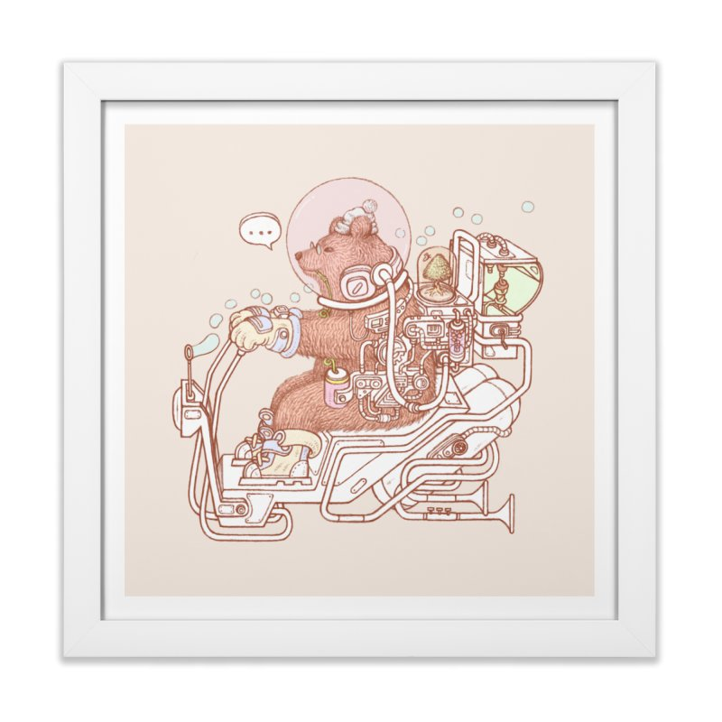 bear space suit Home Framed Fine Art Print by makapa's Artist Shop