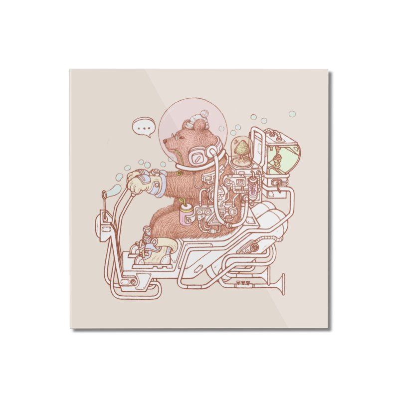 bear space suit Home Mounted Acrylic Print by makapa's Artist Shop