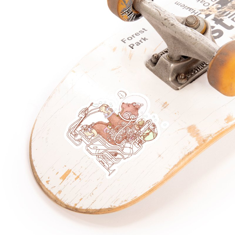 bear space suit Accessories Sticker by makapa's Artist Shop