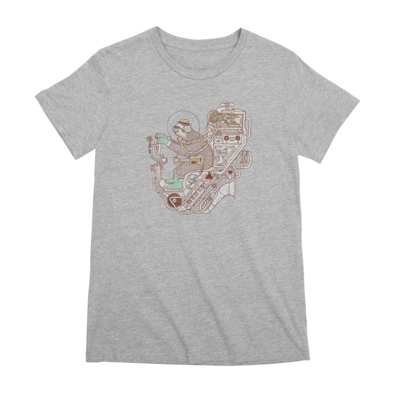 sloth machine Women's Premium T-Shirt by makapa's Artist Shop