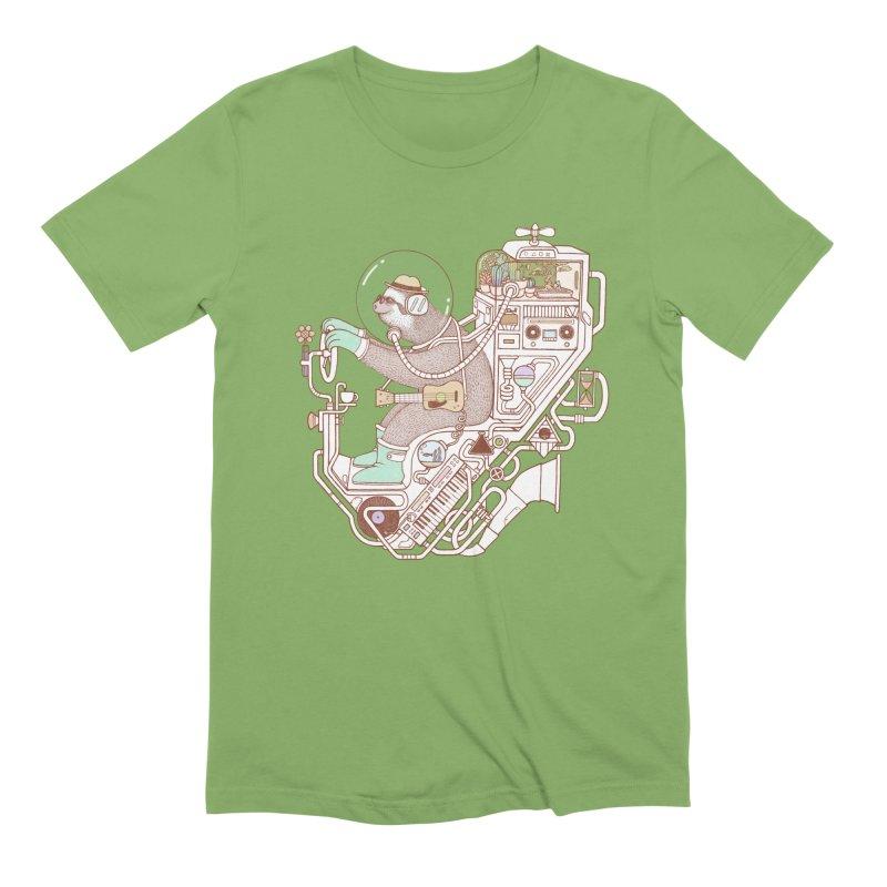 sloth machine Men's Extra Soft T-Shirt by makapa's Artist Shop