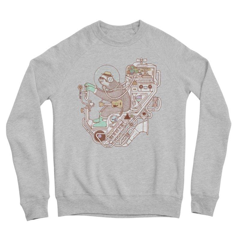 sloth machine Men's Sponge Fleece Sweatshirt by makapa's Artist Shop