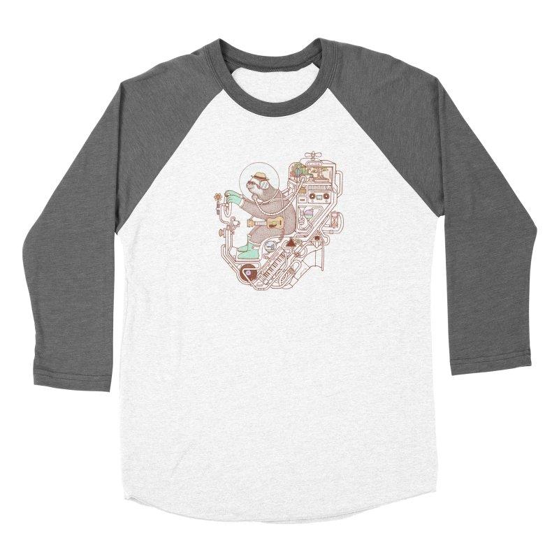 sloth machine Women's Longsleeve T-Shirt by makapa's Artist Shop