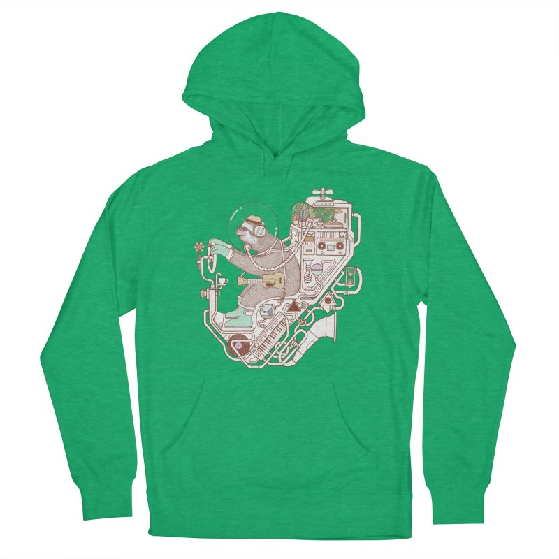 sloth machine Men's French Terry Pullover Hoody by makapa's Artist Shop