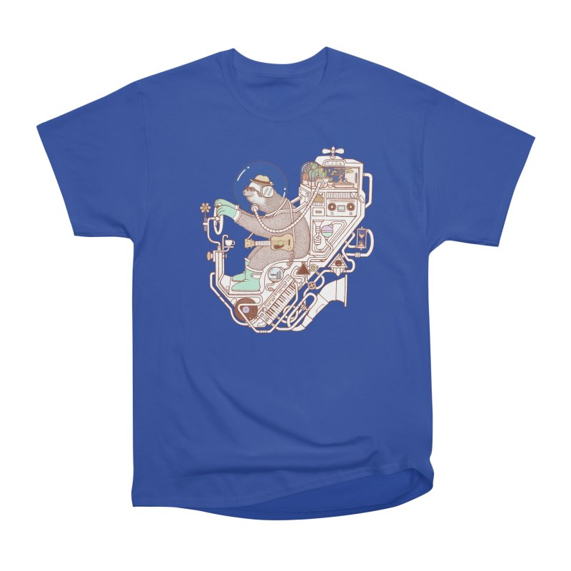 sloth machine Women's Heavyweight Unisex T-Shirt by makapa's Artist Shop
