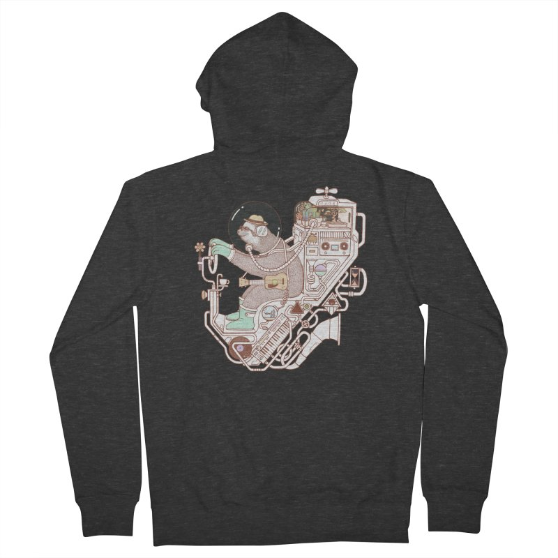 sloth machine Women's French Terry Zip-Up Hoody by makapa's Artist Shop