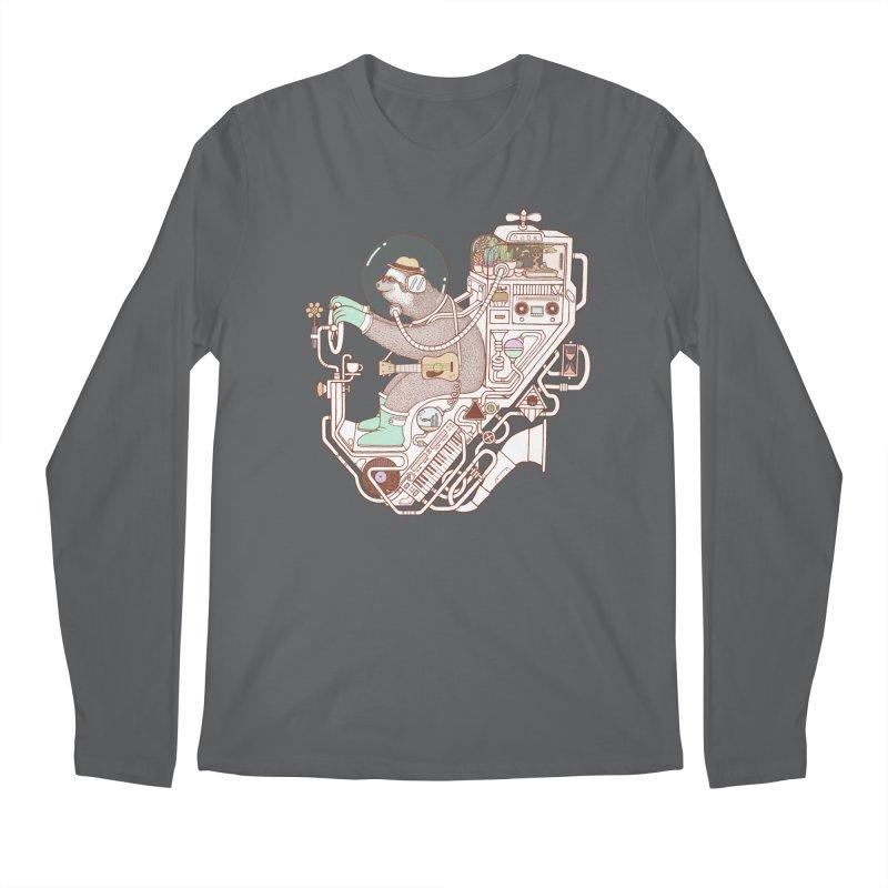 sloth machine Men's Longsleeve T-Shirt by makapa's Artist Shop