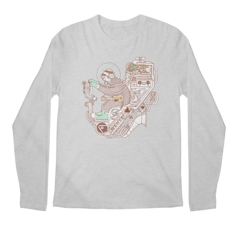 sloth machine Men's Regular Longsleeve T-Shirt by makapa's Artist Shop
