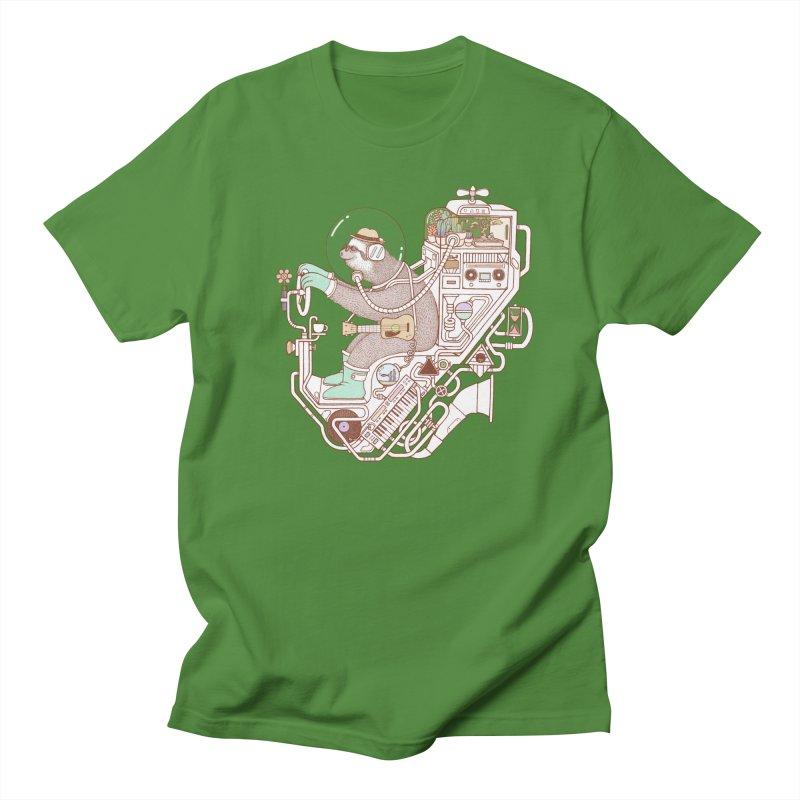 sloth machine Women's Regular Unisex T-Shirt by makapa's Artist Shop