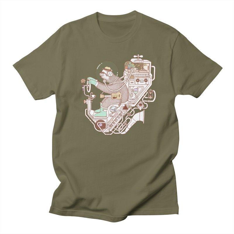 sloth machine Men's T-Shirt by makapa's Artist Shop