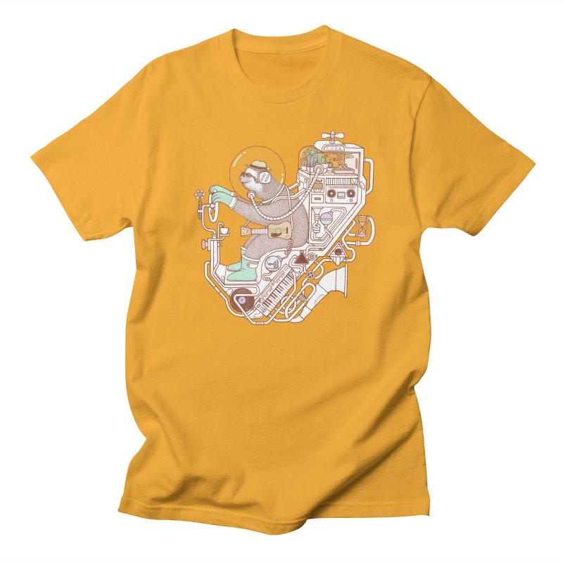sloth machine Men's Regular T-Shirt by makapa's Artist Shop