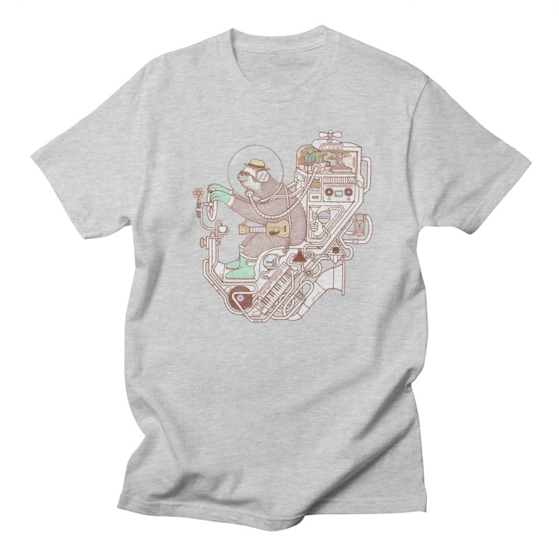 sloth machine Women's Regular Unisex T-Shirt by makapa's Artist Shop